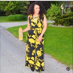 Eva Mendes Floral Jumpsuit